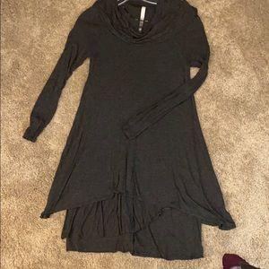 Kenzie charcoal grey cowl tunic
